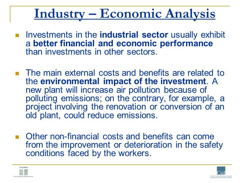 Industry – Economic Analysis