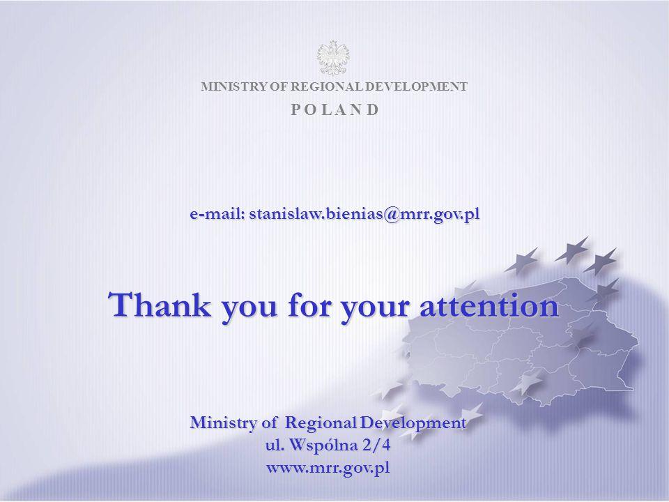 MINISTRY OF REGIONAL DEVELOPMENT P O L A N D