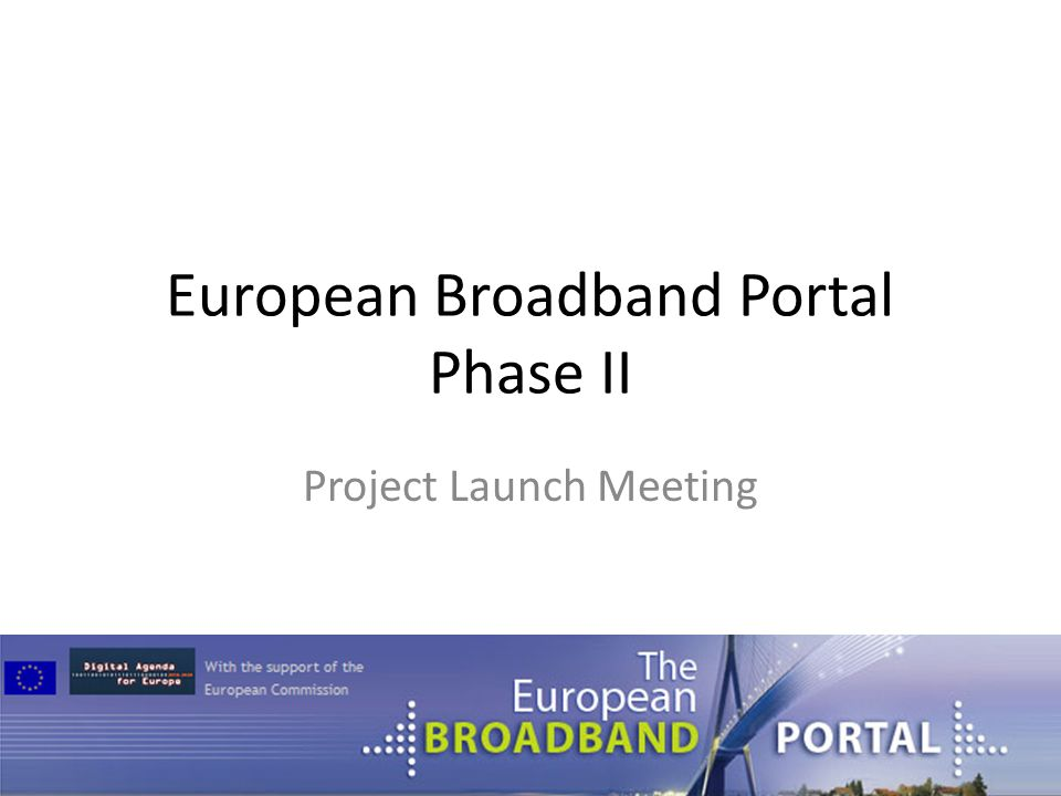 European Broadband Portal Phase II