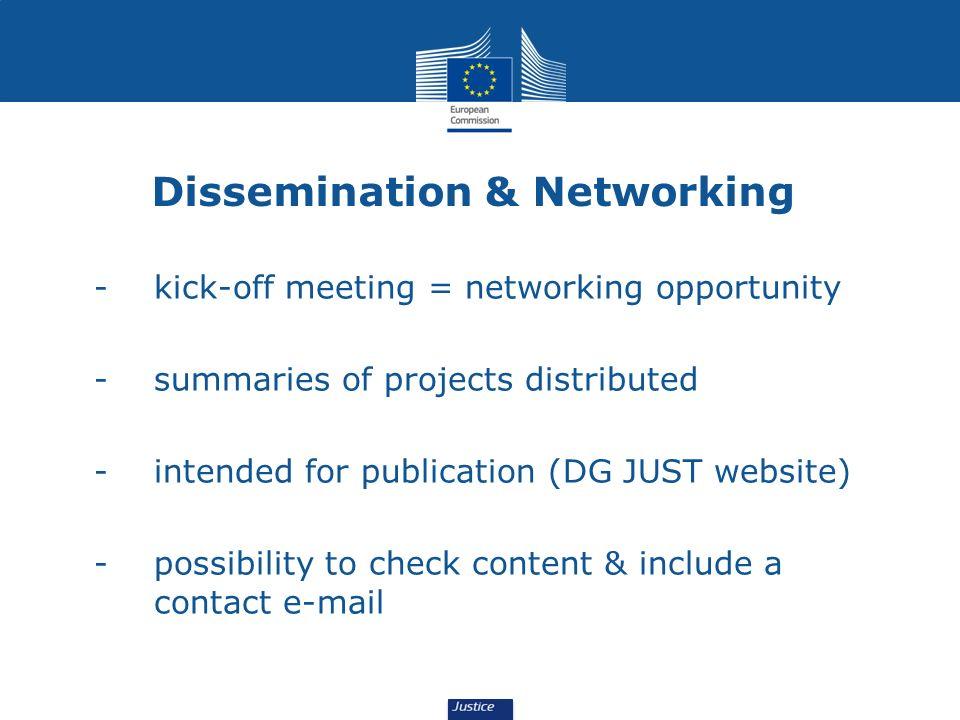 Dissemination & Networking