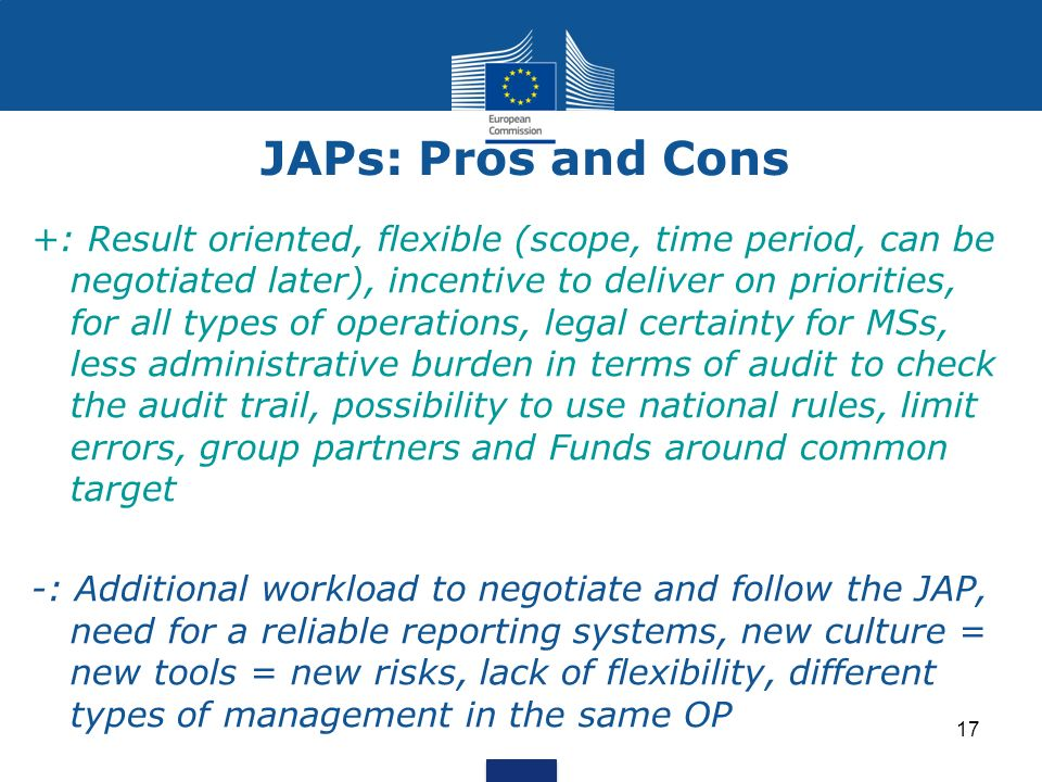 JAPs: Pros and Cons