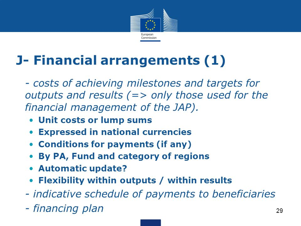 J- Financial arrangements (1)
