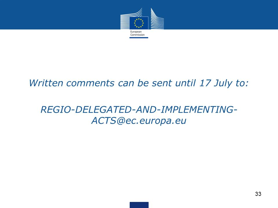 Written comments can be sent until 17 July to: