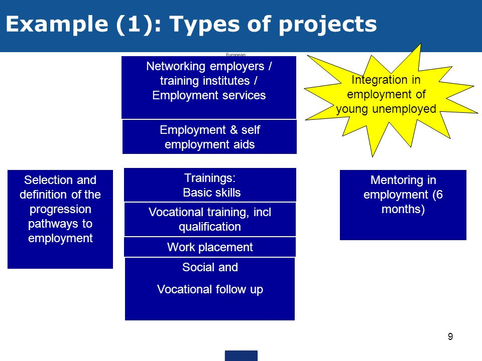 Example (1): Types of projects