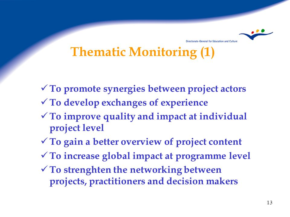 Thematic Monitoring (1)