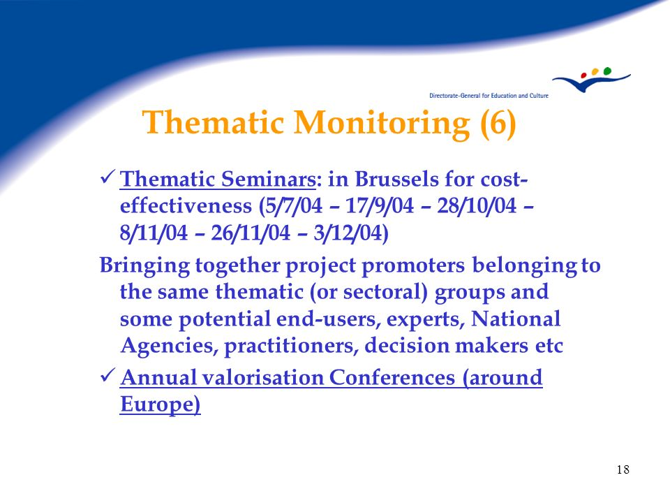 Thematic Monitoring (6)