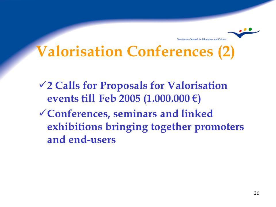 Valorisation Conferences (2)