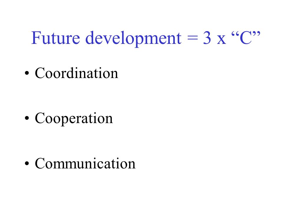 Future development = 3 x C