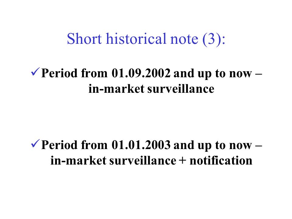 Short historical note (3):