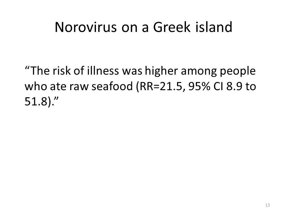 Norovirus on a Greek island