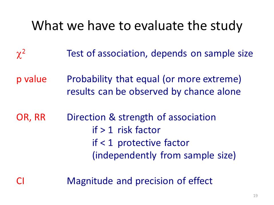 What we have to evaluate the study