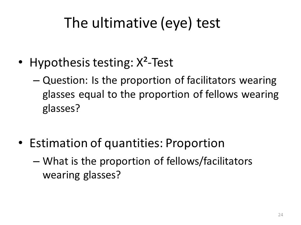 The ultimative (eye) test