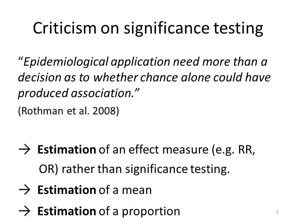 Criticism on significance testing