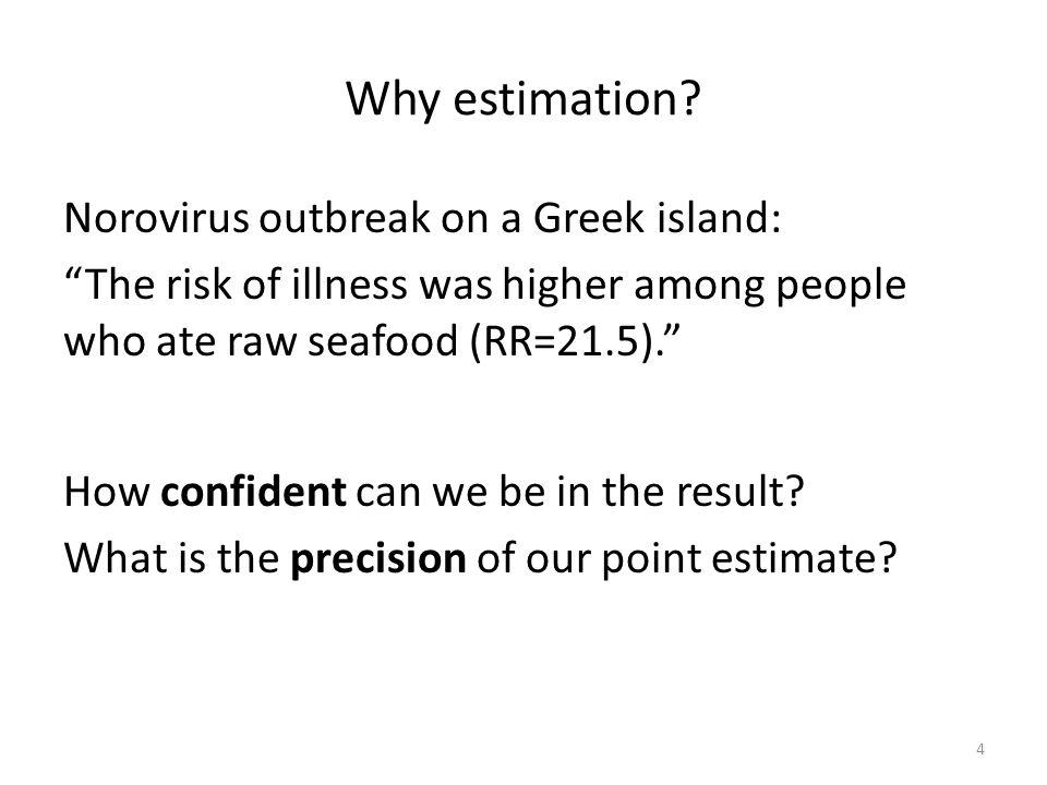 Why estimation Norovirus outbreak on a Greek island: