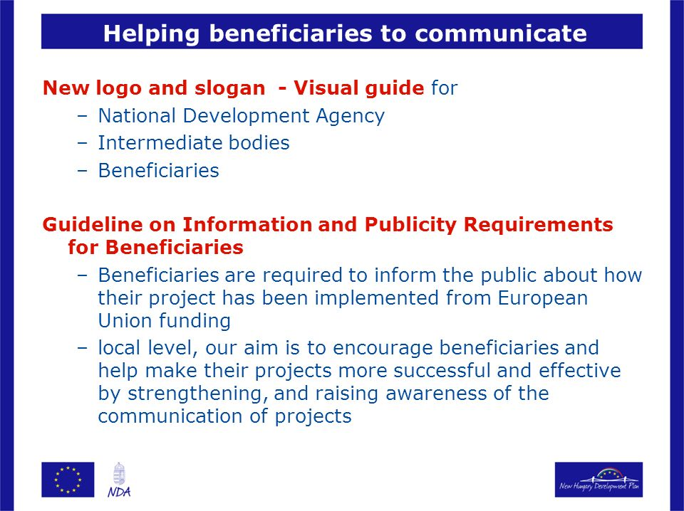 Helping beneficiaries to communicate