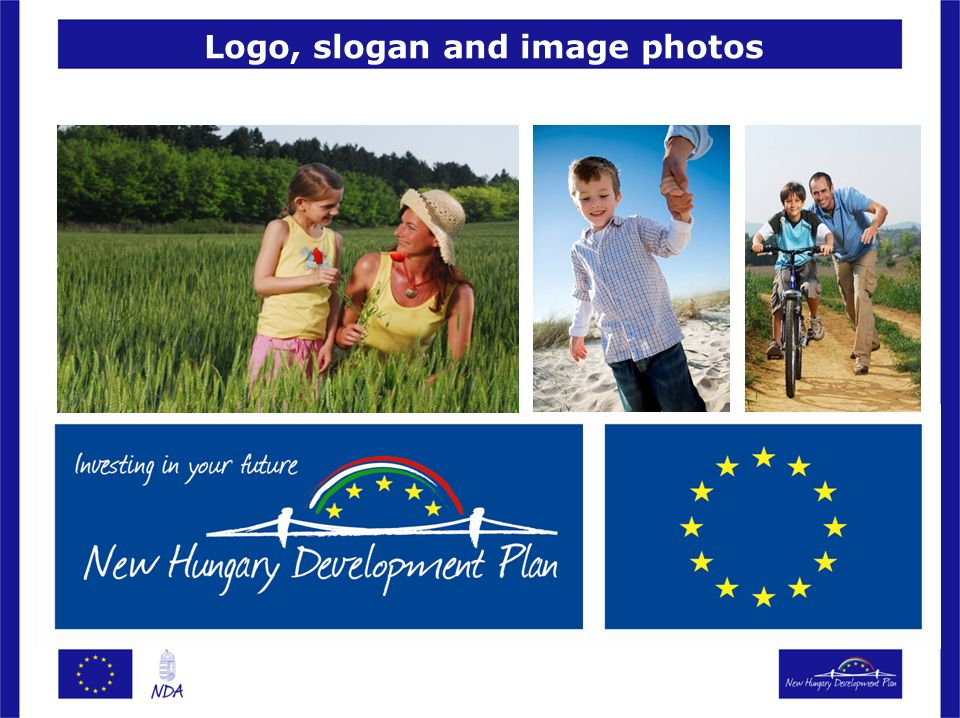 Logo, slogan and image photos