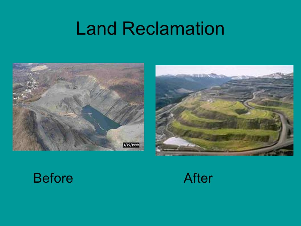 Managing the land encompasses 4 main areas ppt video for Soil reclamation