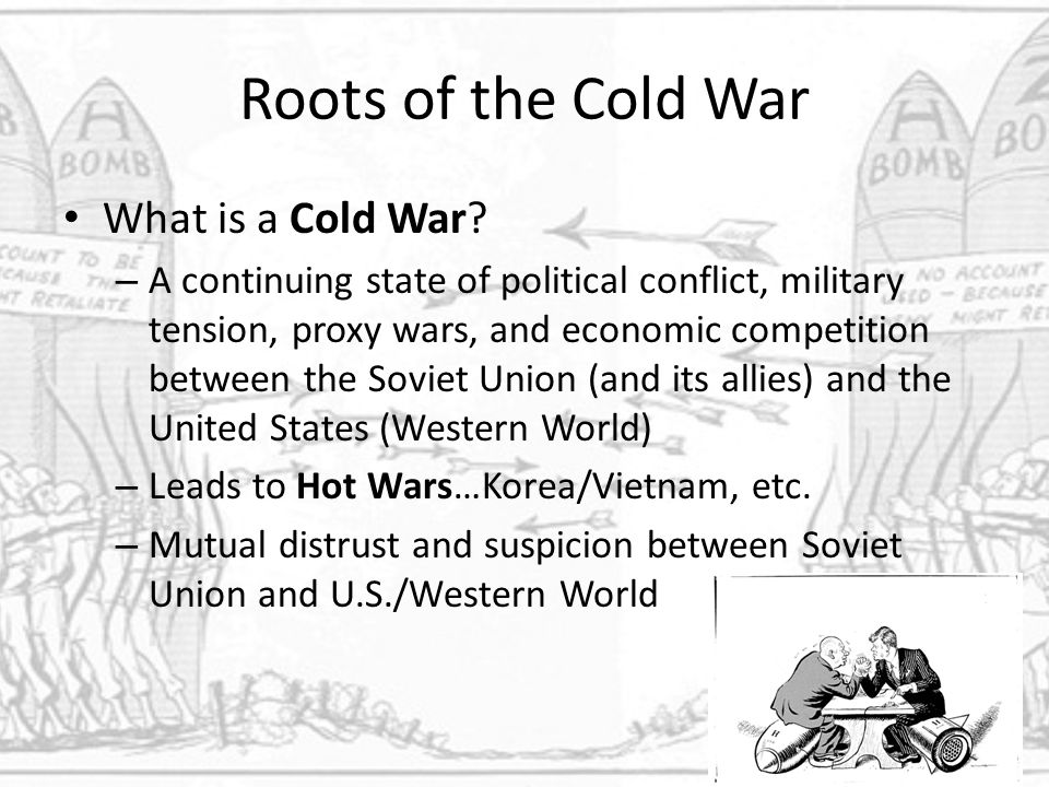 the cause conflict tension and war between the united states and the soviet union Soviet expansion in eastern europe was massive cause of the cold war  this  large and fast expansion of the ussr and its allies scared the usa and tension  grew due to the fear of  it caused conflict between the two superpowers  because of the vast  they did not give money to the soviet union and any of its  allies.