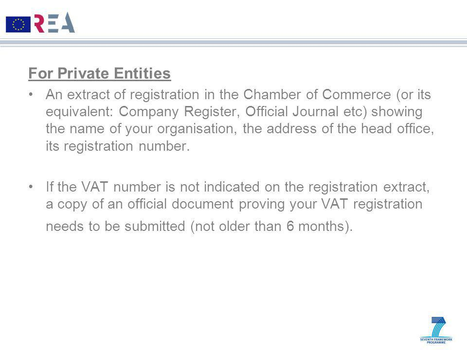 For Private Entities