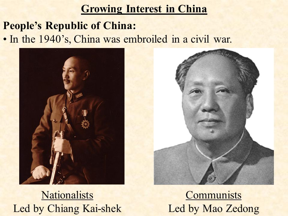 Objective: To Examine The Results Of The Chinese Civil War