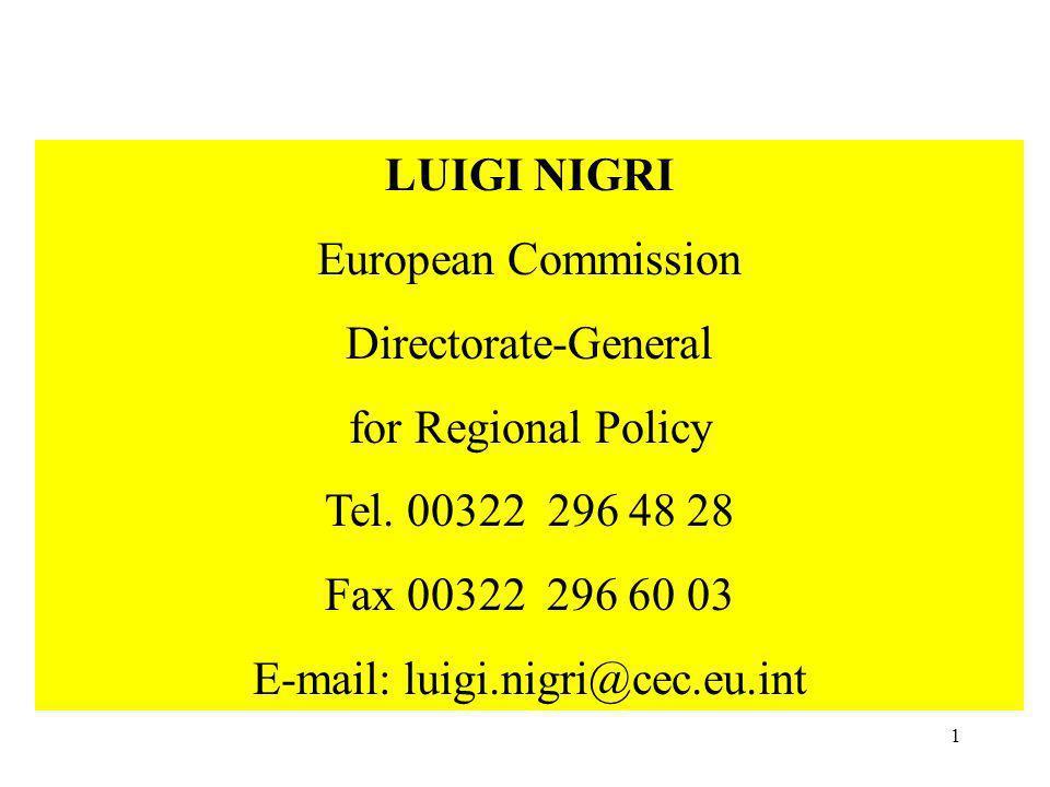 E-mail: luigi.nigri@cec.eu.int