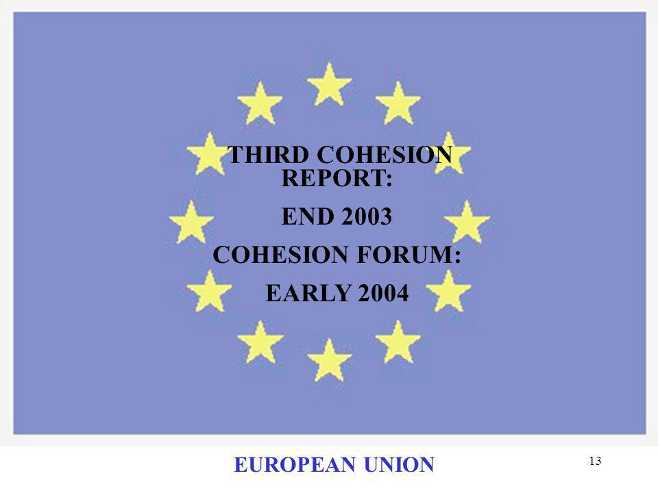 THIRD COHESION REPORT: