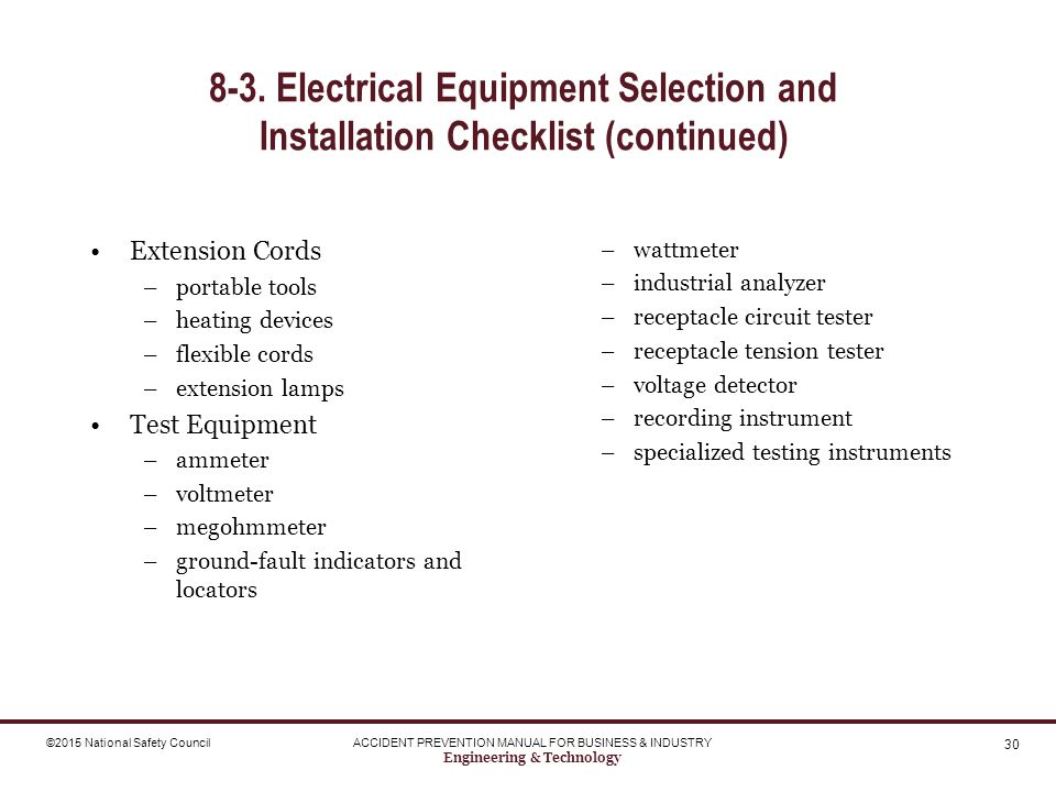 Electrical Testing Equipment List : Engineering technology ppt download