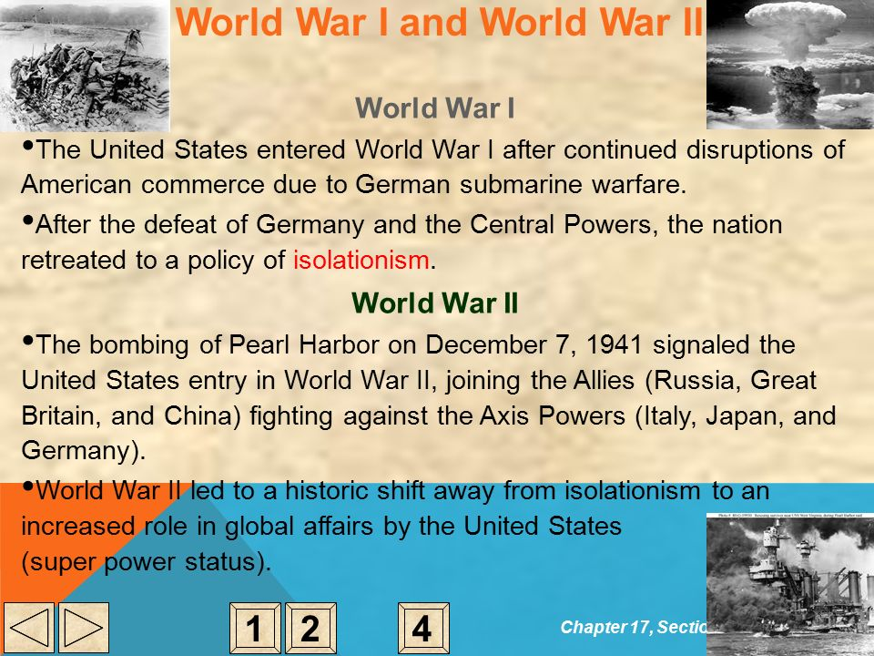 isolationism to super power America's rise to superpower status began with its 1917 entry into world war i president woodrow wilson had grand visions for the peace that followed, but failed the battle he started in the us .
