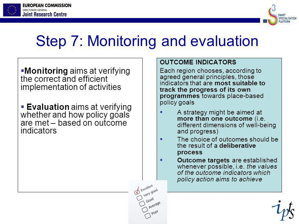 Step 7: Monitoring and evaluation
