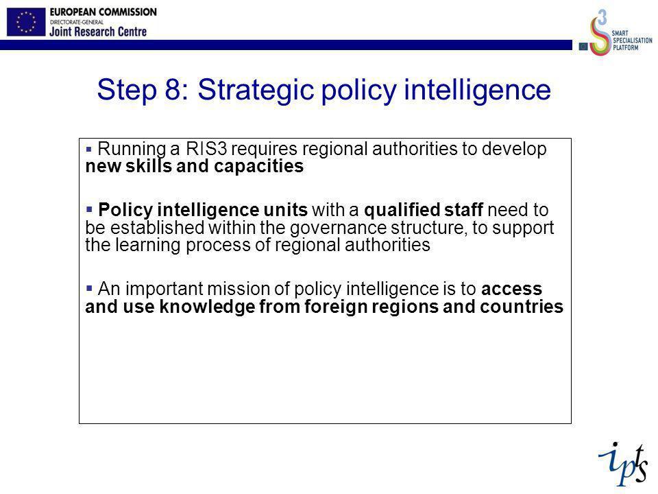 Step 8: Strategic policy intelligence