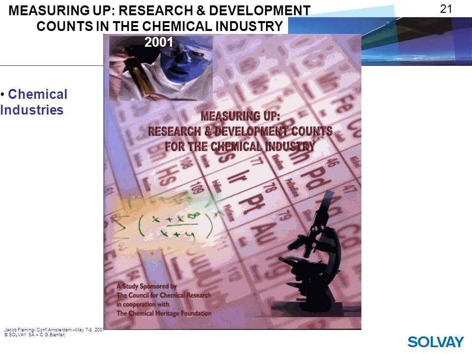 MEASURING UP: RESEARCH & DEVELOPMENT COUNTS IN THE CHEMICAL INDUSTRY 2001