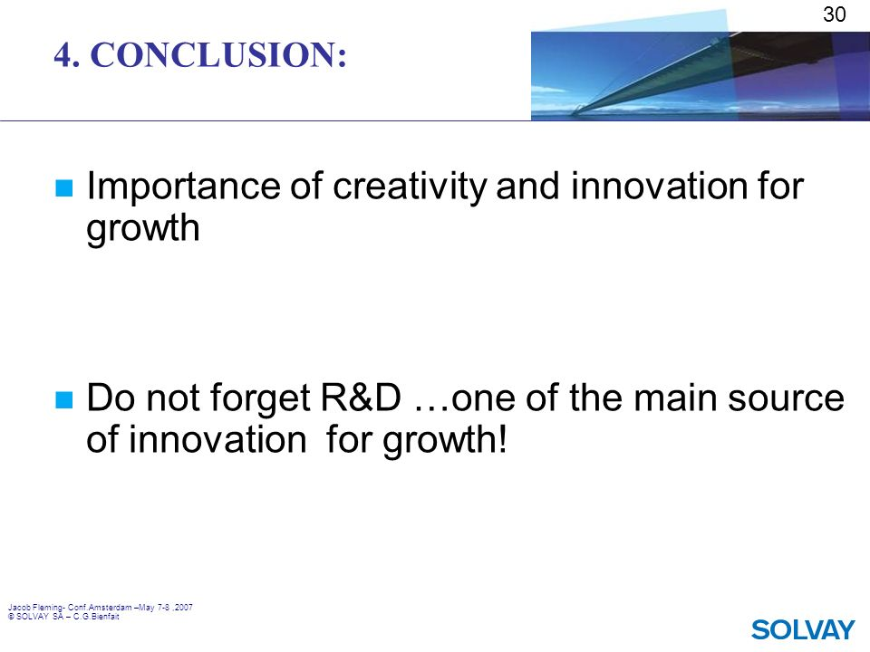 Importance of creativity and innovation for growth