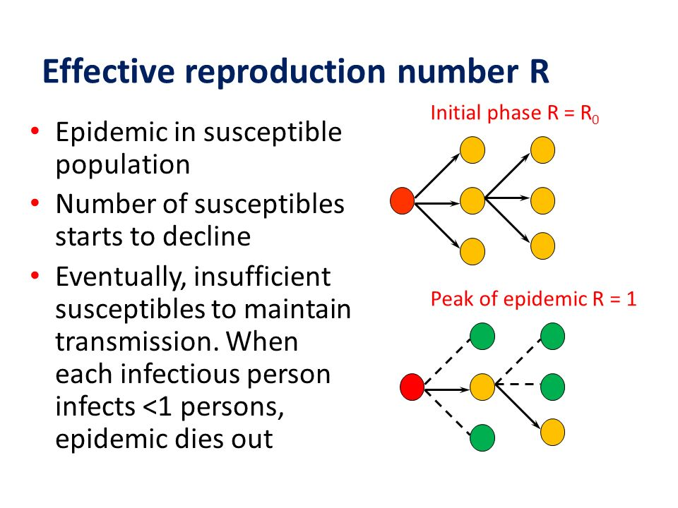 Effective reproduction number R