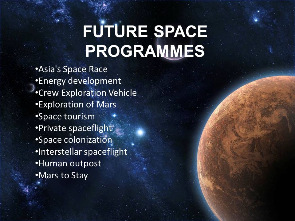 SPACE EXPLORATION ……….All adventures, especially into new ...
