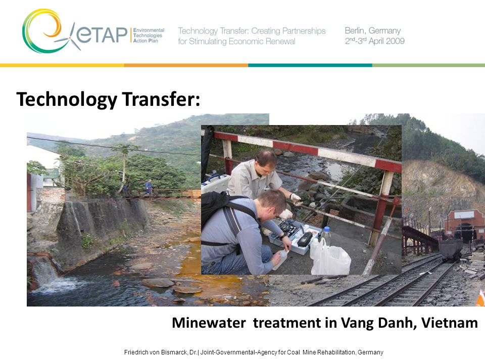 Technology Transfer: Minewater treatment in Vang Danh, Vietnam