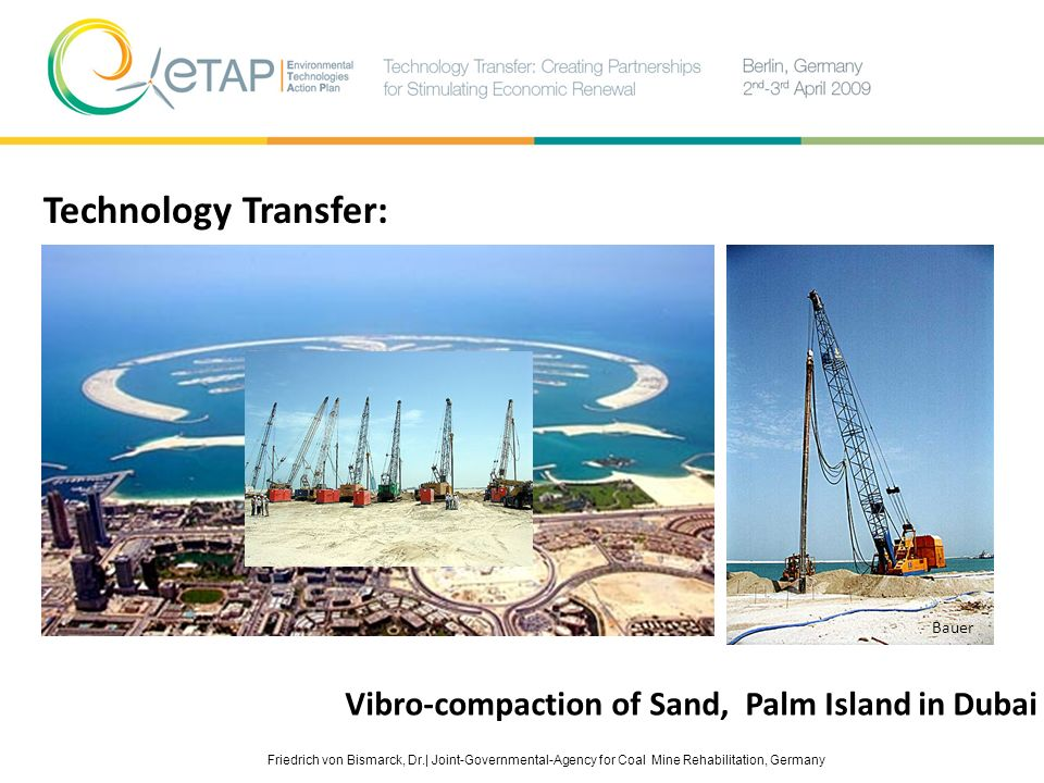 Technology Transfer: Vibro-compaction of Sand, Palm Island in Dubai