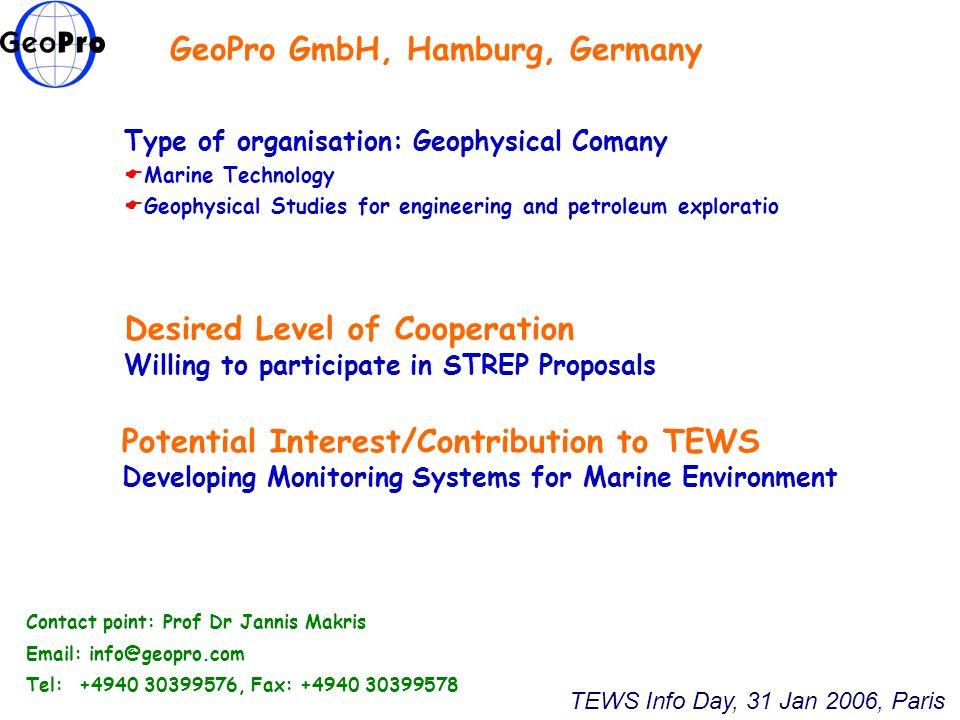 GeoPro GmbH, Hamburg, Germany