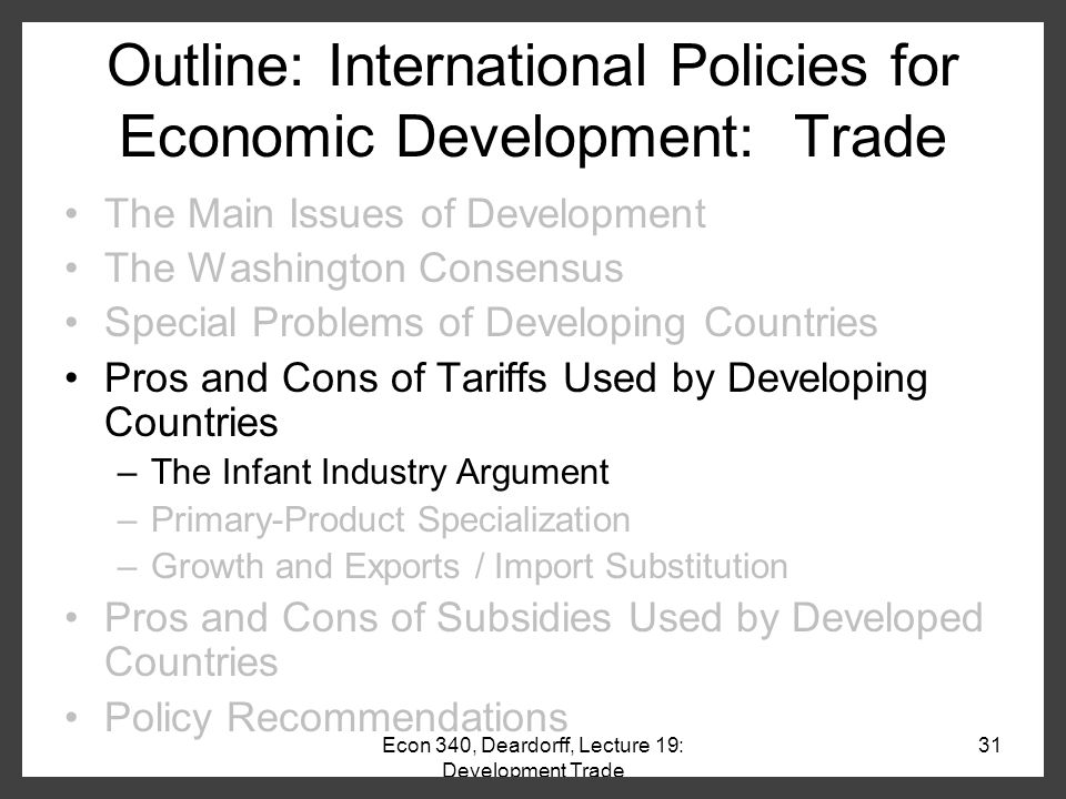 economic development for developing countries essay Choi, yoonho, three essays on trade policies in developing countries (2017)   transportation, power and water system is slowing economic growth because .