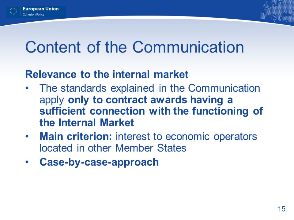 Content of the Communication