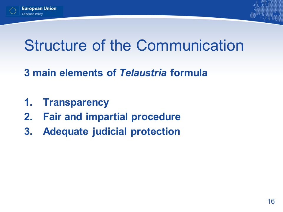 Structure of the Communication
