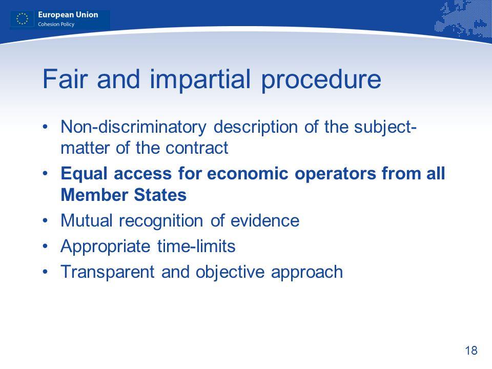 Fair and impartial procedure