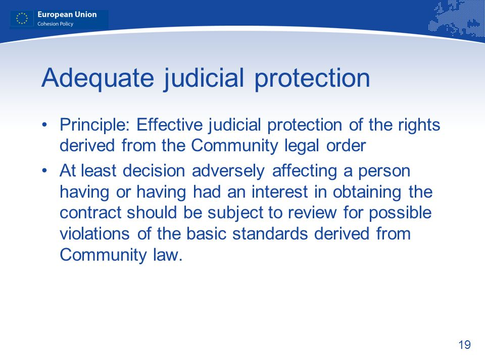 Adequate judicial protection