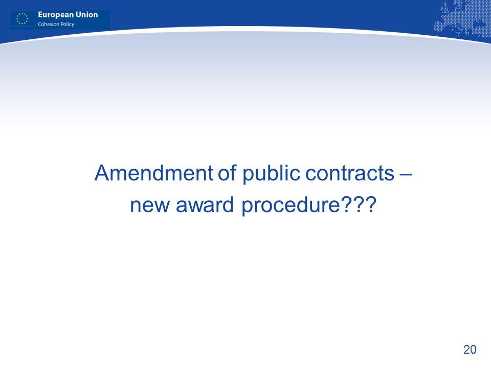 Amendment of public contracts –