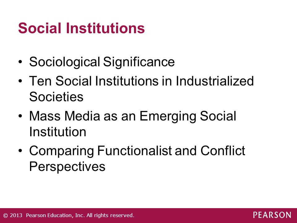 Social Institutions Sociological Significance