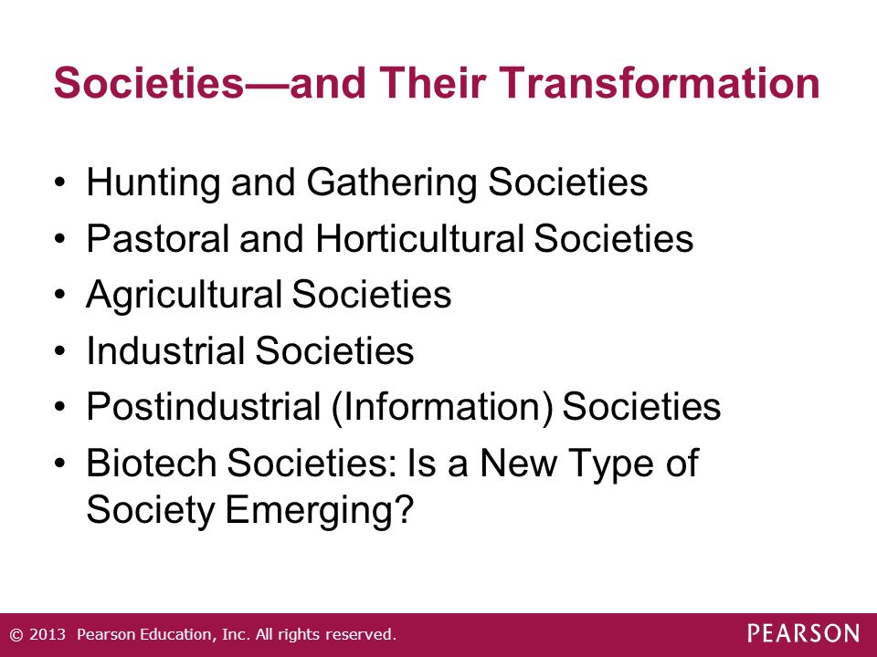 Societies—and Their Transformation