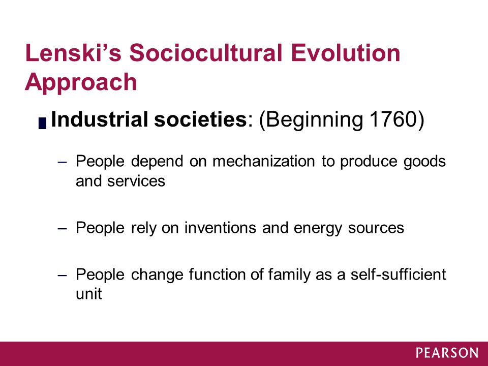 Lenski's Sociocultural Evolution Approach