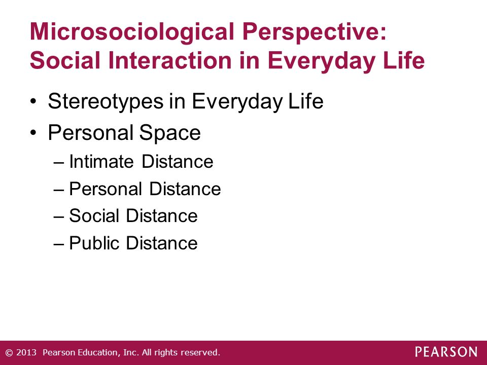 Microsociological Perspective: Social Interaction in Everyday Life