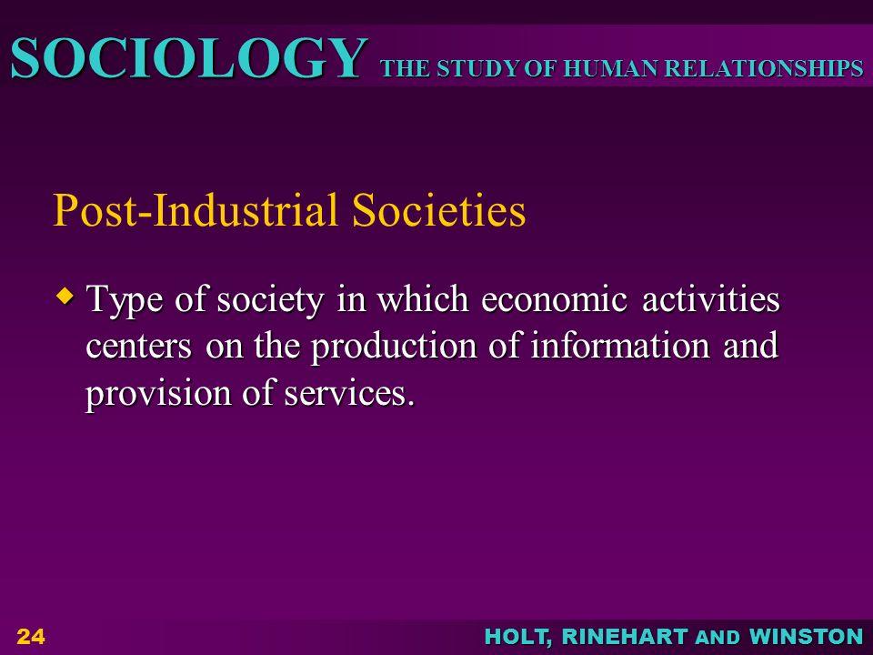 Post-Industrial Societies