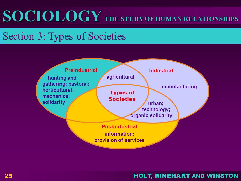 Section 3: Types of Societies