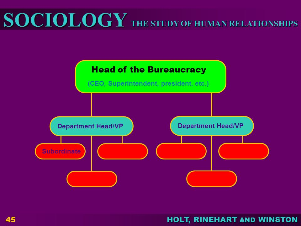 Head of the Bureaucracy